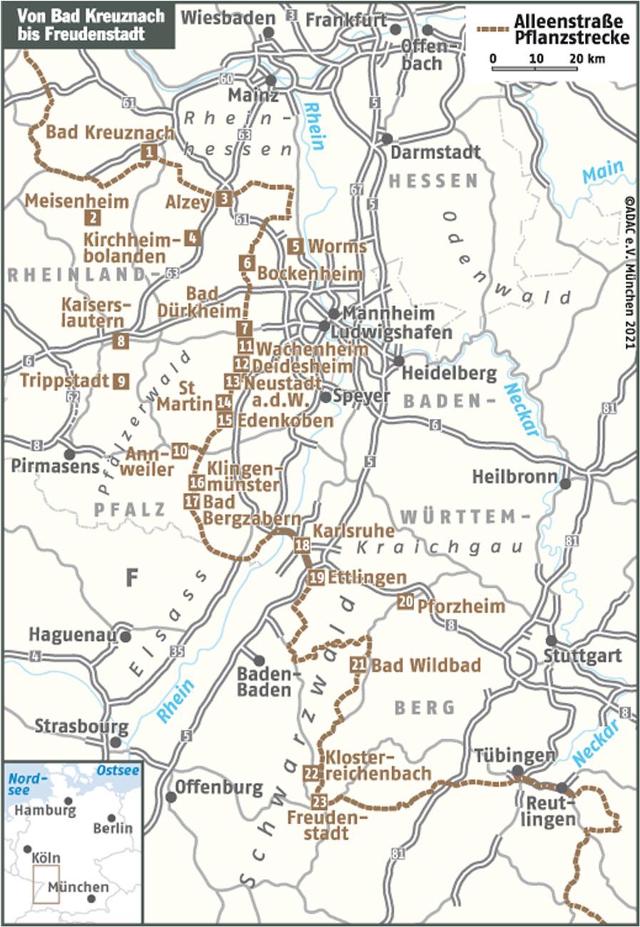 Radon Karte Deutschland.Deutsche Alleenstraße